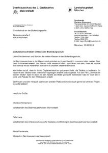 Gratulation Blutenburgschule