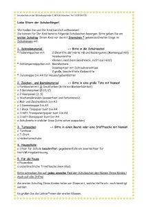 Schuleinschreibung Materialliste 2020